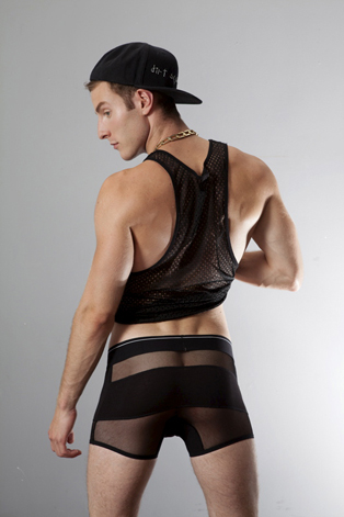 Black Mesh Boxer Brief